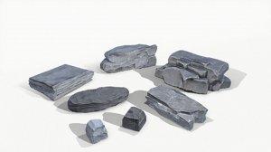 random rock stones 3D