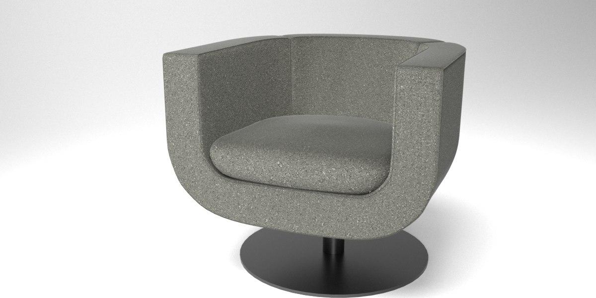 interior b italia tulip 3D model