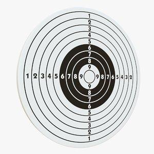 3D target arrows accuracy