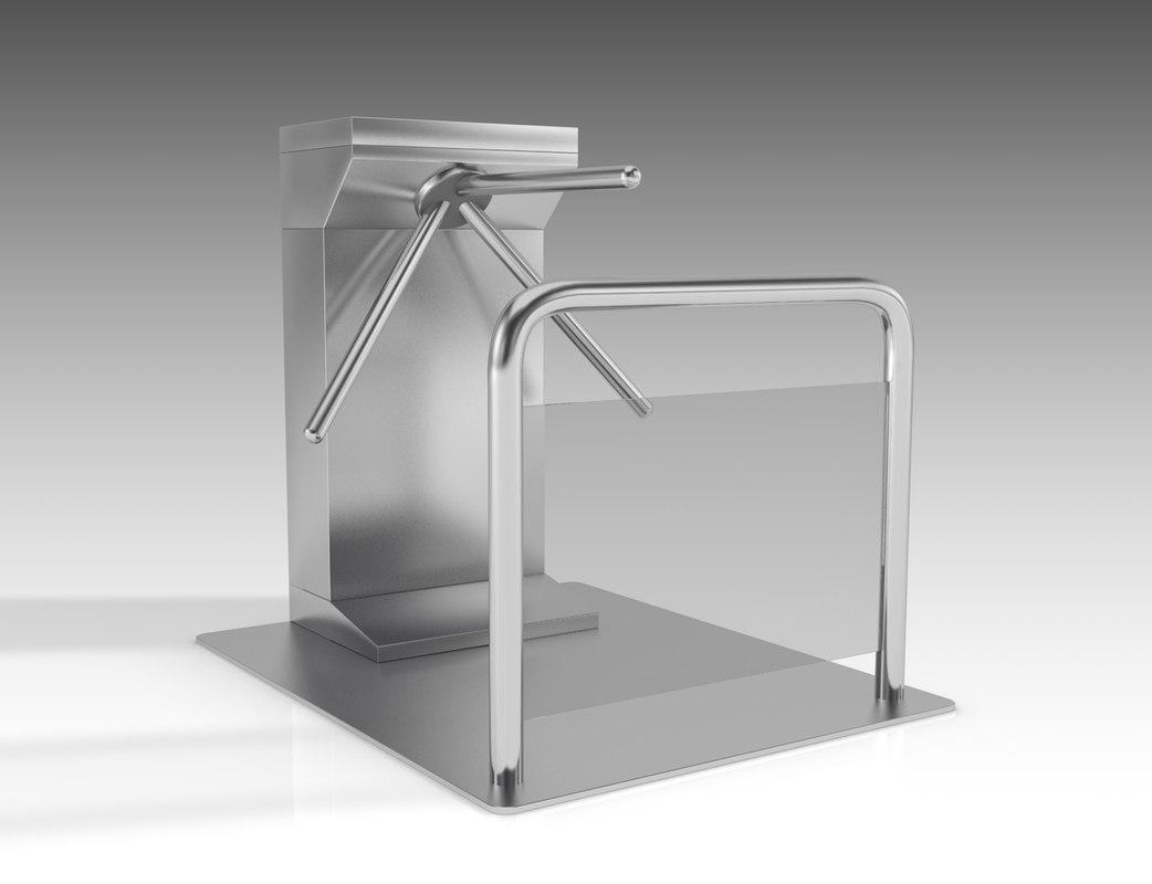 3D turnstile turn stile model