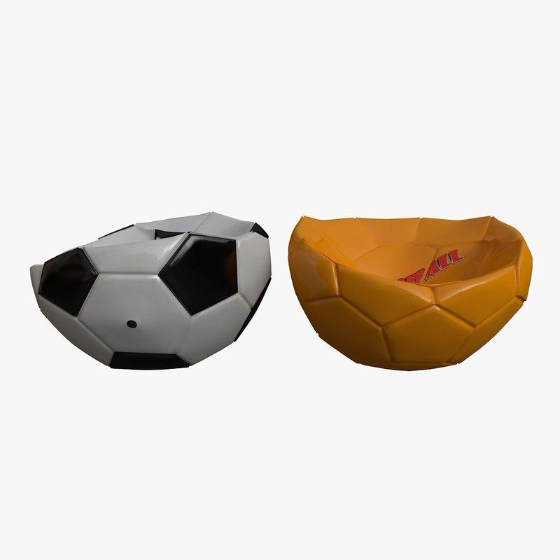 3D deflated balls model