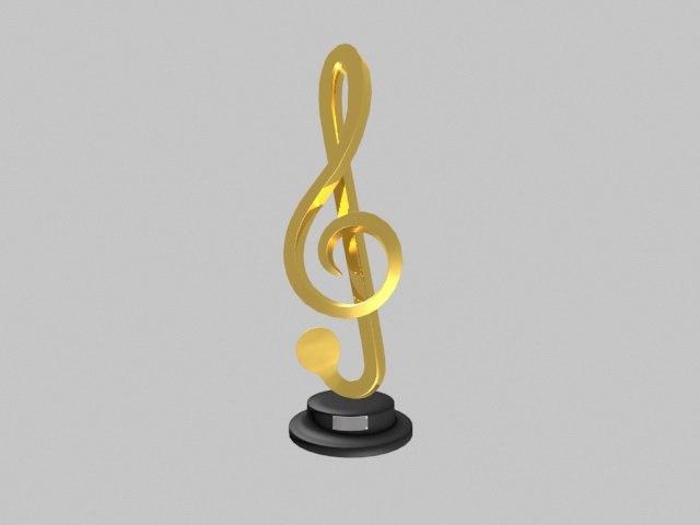 music trophy 3D model