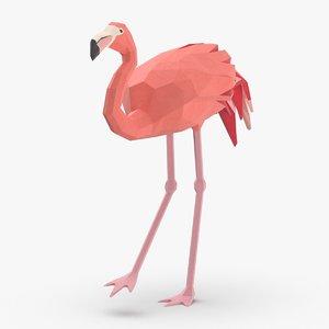 3D flamingo---creeping