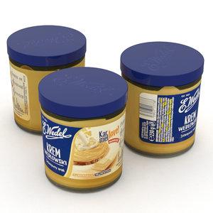 wedel caramel cream jar 3D