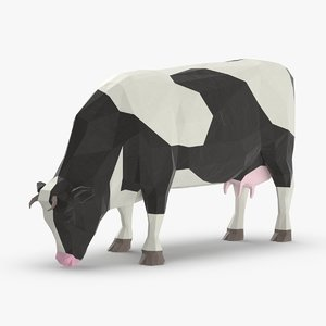 cow---eating 3D model