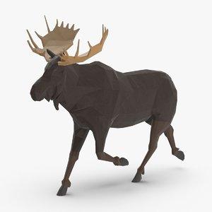 3D moose---running