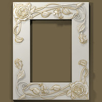 3d stl model photo frame