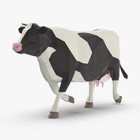 3D cow---running