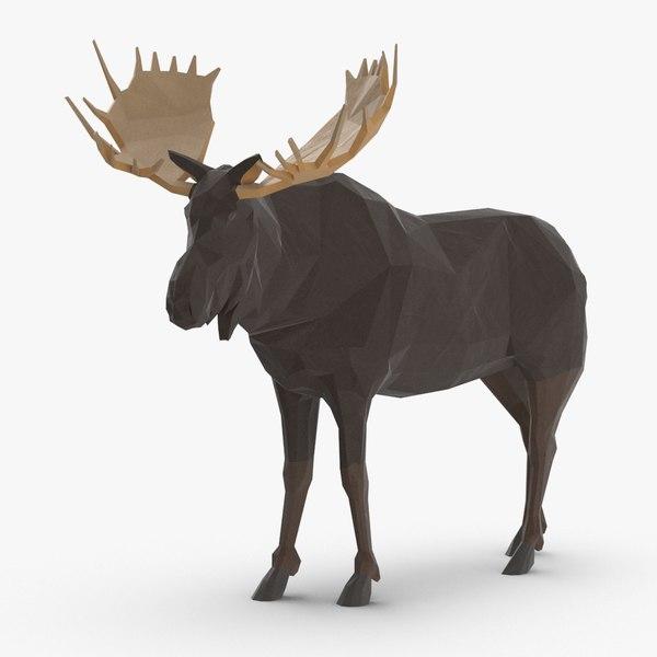moose---standing 3D model