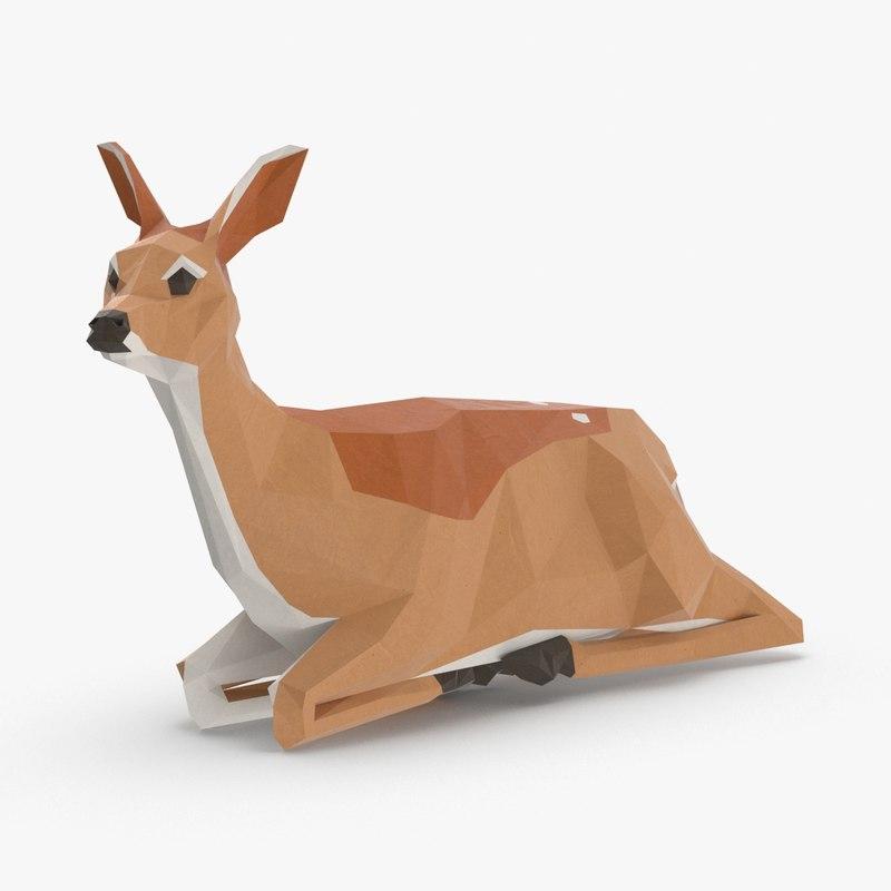 3D fawn---sitting