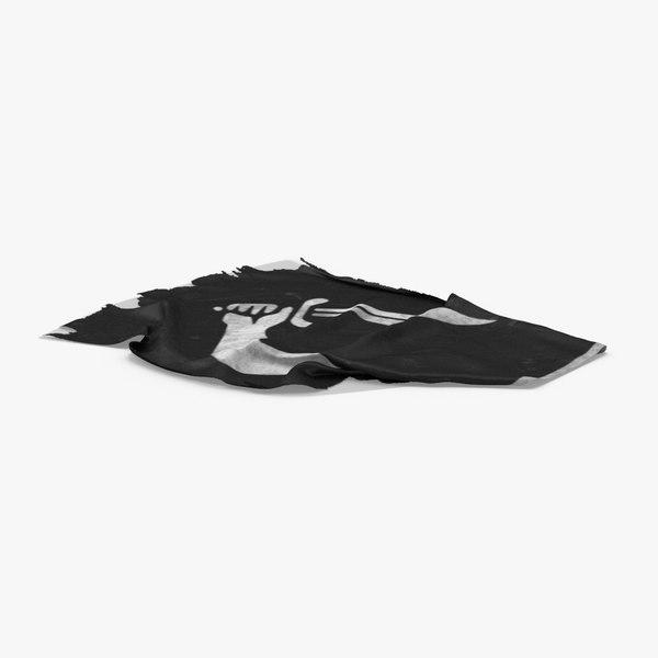 pirate-flag-02---v4 3D model