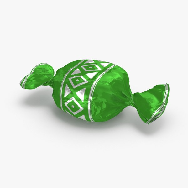 hard-candies---green-pattern 3D model