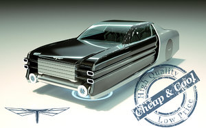 3D model hover car