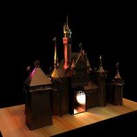 3D brass castle model