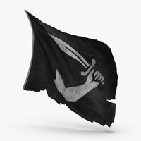 pirate-flag-02---v2 3D model