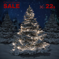 3D garland snow spruce