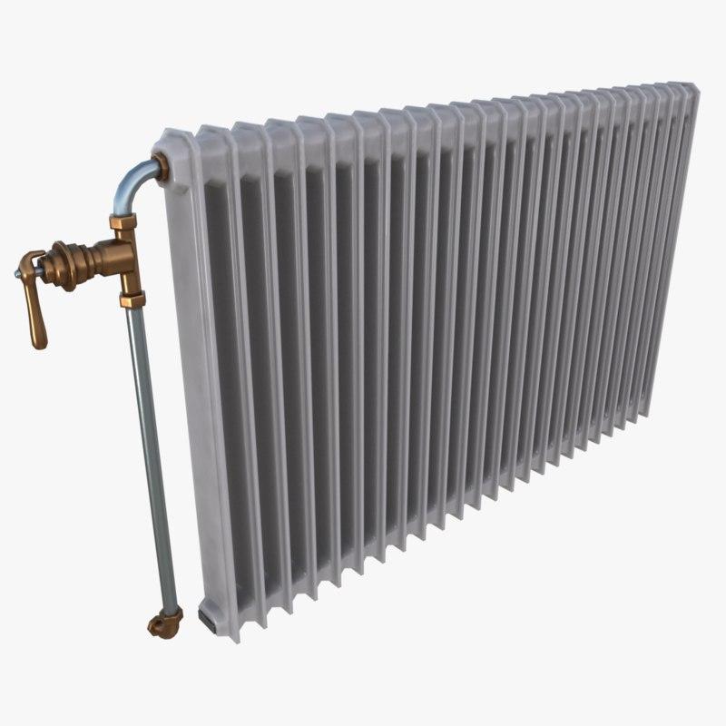 old radiator 3D model