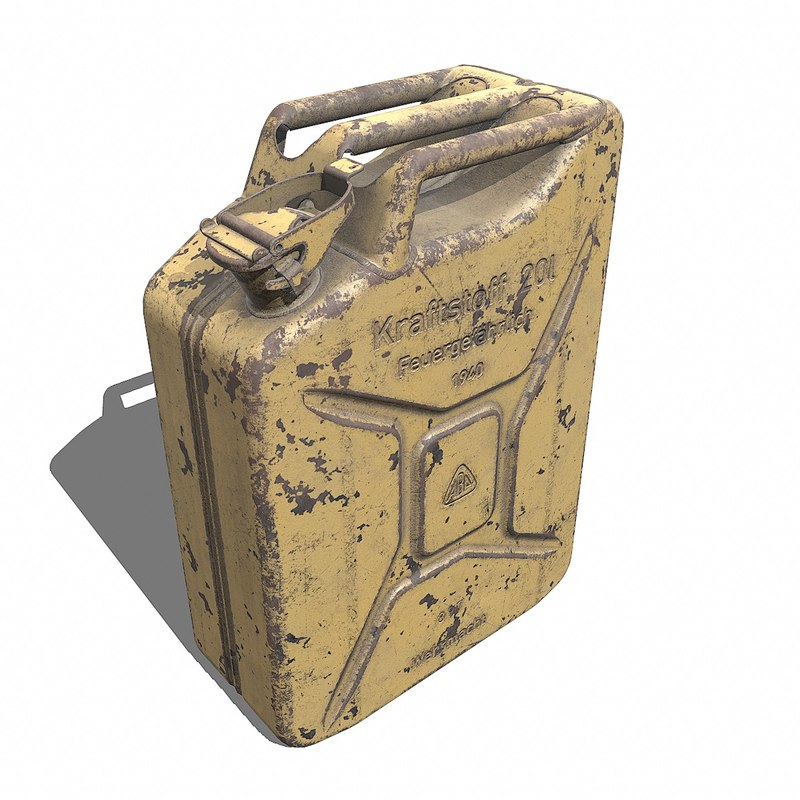 3D model ww2 jerry kraftstoff 20l
