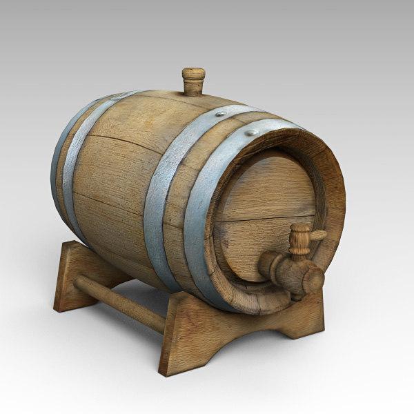 3D barrel cognac model