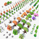 LowPoly 140 Trees + 21 Bonus Items