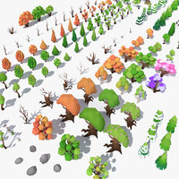 LowPoly 140 Trees + 21 Bonus Items