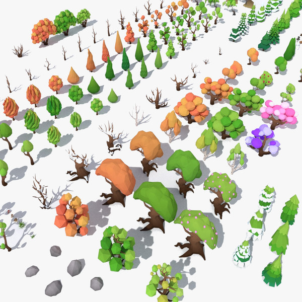 pack trees 21 bonus 3D model