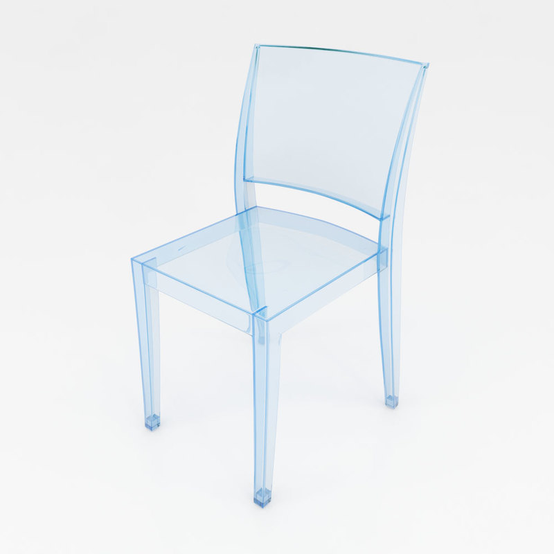 3D methacrylate chair - kartell model
