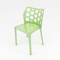 hexagon methacrylate chair 3D model