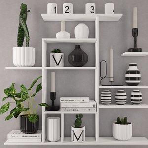 3D shelving decoration