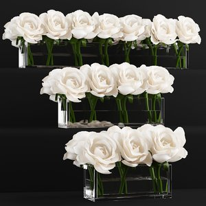 rose arrangements 3D