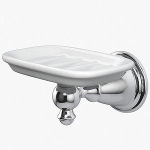soap dish ceramic 3D model