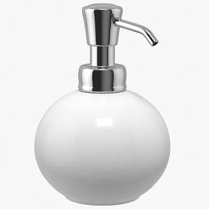 3D soap dispenser ceramic