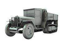 3D truck tractor model
