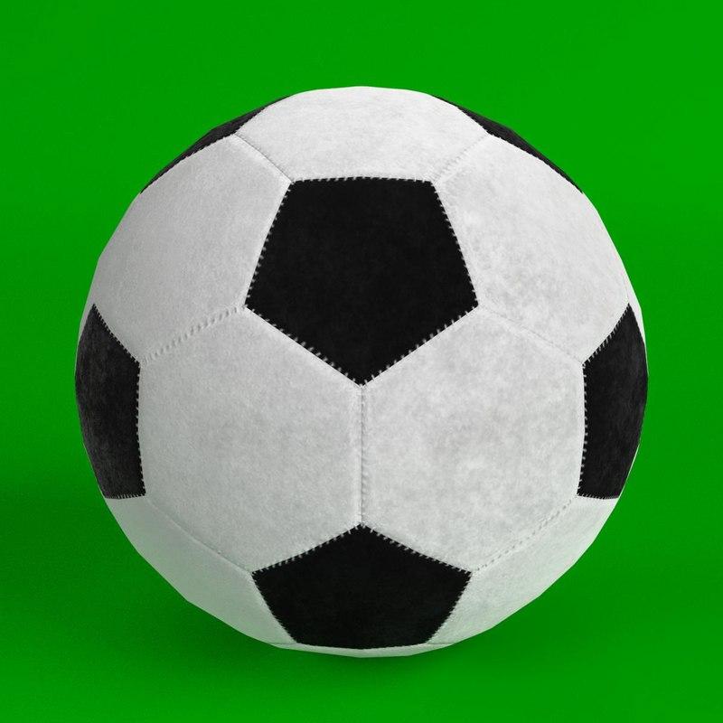 3D football soccer ball 2 model