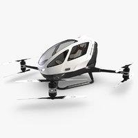 3D passanger dron ehang 184 model