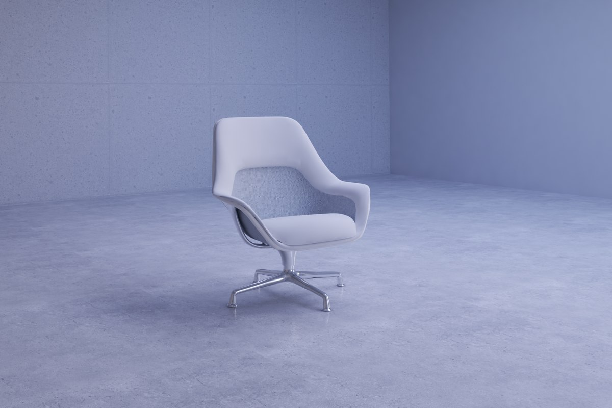 3D sleek sw lounge chair model
