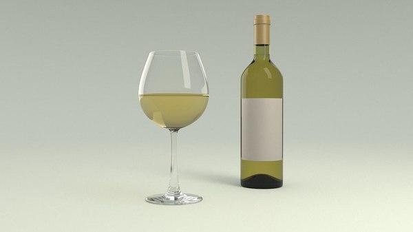 wine glass white model