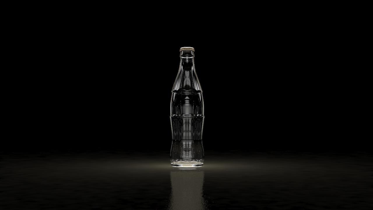 3D model glass bottle