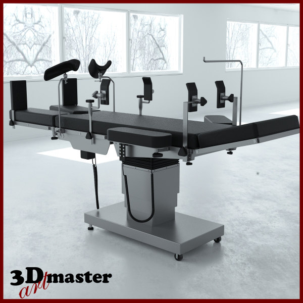 3D model medical surgical table