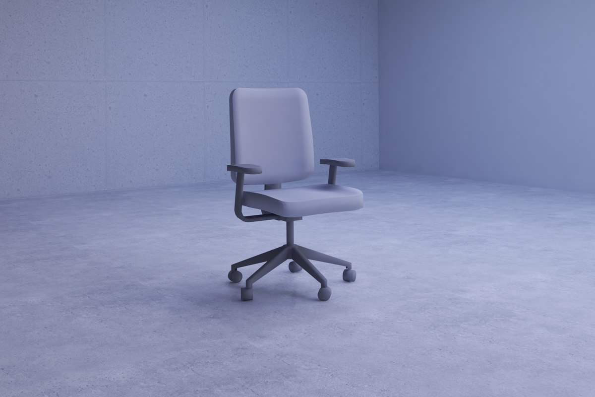 simple gray office chair model