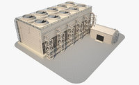 3D gas plant equipment model