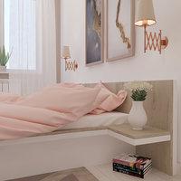 cozy bedroom 3D