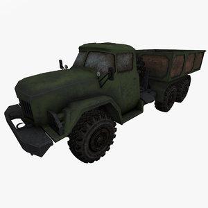 3D model zil-131 zil