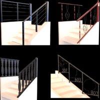 3D railings stair