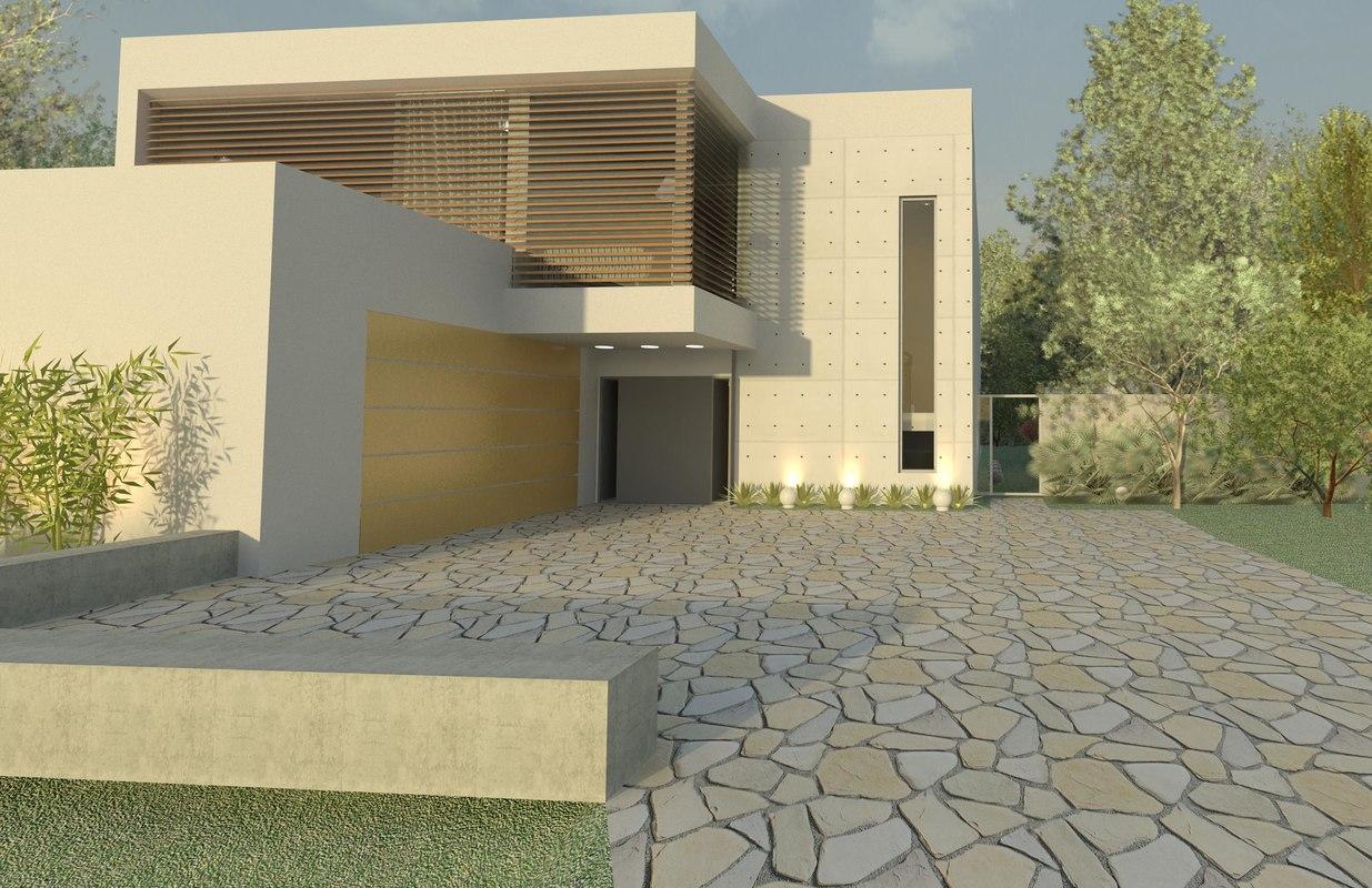 3D model modern house