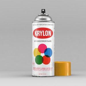old krylon spray 3D model