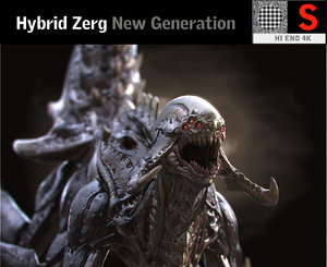 hybrid zerg hd 3D model
