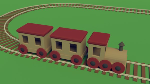 3D simple toy train track