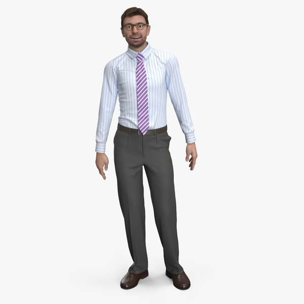 realistic male cloth animations 3D model
