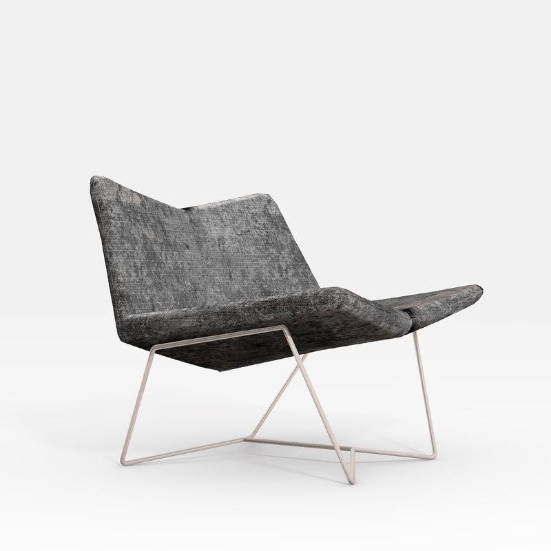 3D bent chair model